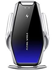 Wireless Car Charger Infrared Auto-Sense Auto-Clamping 15W Fast Wireless Charger Air Vent Mount Phone Holder for iPhone 11 Pro/XR/XS MAX/8 Plus, Samsung S10/S9/Note 9/S8 and All Qi-Enabled Phones
