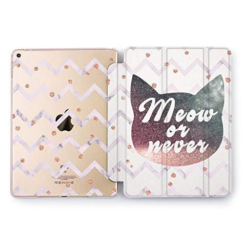 Wonder Wild Meow Or Never Apple New iPad Case 9.7 inch Mini 1 2 3 4 Air 2 10.5 12.9 2018 2017 Cover Skin Texture Stand Print Animals Watercolor Print -