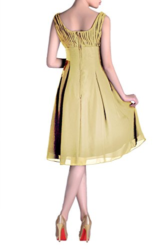 Bridesmaid Daffodil the Formal Mother Knee Occasion Length Dress Pleated Brides of Special wrFPqw
