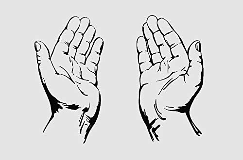 (Praying Hands Christianity Symbol Church. Transfer tattoos tattooing temporary tattoos Cute Face stickers)