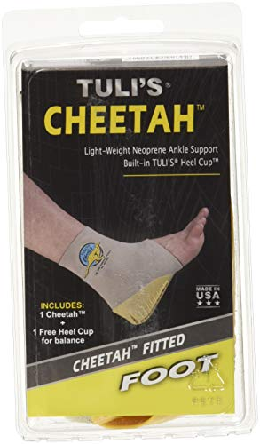 Tulis Cheetah Heel Cup with Compression Ankle Support Sleeve, Foot Protection for Gymnasts and Dancers, Lightweight, Fitted Medium