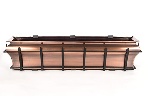 H Potter Ogee Window Box Flower Copper Finish Planter (48 INCH)