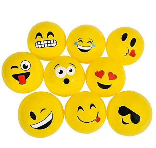 DollarItemDirect 36PC 3'' Emoticon Vinyl Ball Yellow ONLY, Case of 8 by DollarItemDirect (Image #1)