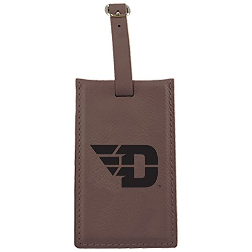 Flyer Luggage Tag (LXG, Inc. University of Dayton -Leatherette Luggage Tag-Brown)