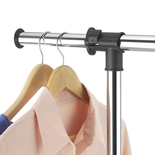Whitmor Deluxe Adjustable Garment Rack, Chrome U0026 Black