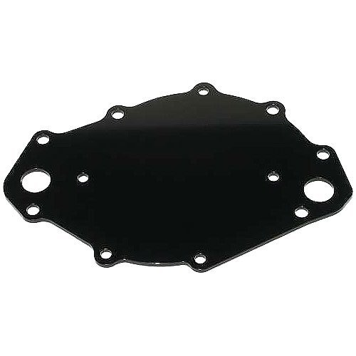 Meziere WP109S Black Water Pump Back Plate for Big Block Ford by Meziere