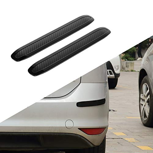 JOYTUTUS Bumper Protector for Car Rear Rubber Anti-Scratch Bumper Guard Strips Side Pickup Truck SUV Back, 2 Packs