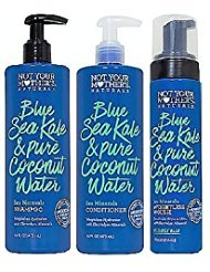 Not Your Mothers Naturals Blue Sea Kale & Pure Coconut Water Sea Minerals Shampoo, Conditioner and Weightless Mousse, Set of 3 ()