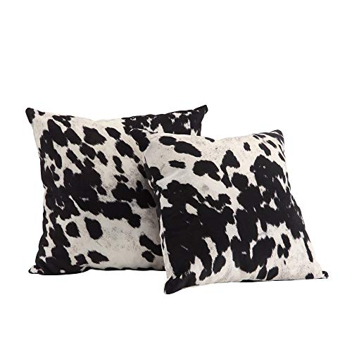 Black and White Faux Cow Hide Print Decorative Pillows by INSPIRE Q (Set of 2)
