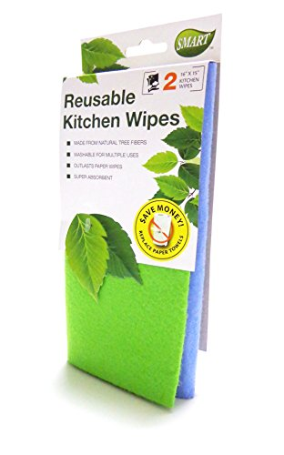 Smart 10041 Reusable Kitchen Wipes, 2-Pack
