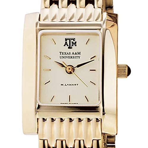 M. LA HART Texas A&M Women's Gold Quad Watch with Bracelet