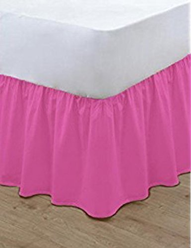 Nz Plain Dyed Poly Cotton Soft Frilled Base Valance Sheets Bed Sheets  Covers All Sizes (