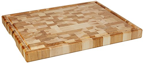 Grain Large End (Labell Boards L14186 Canadian End Grain Butcher Block with Groove, 14x18x1.5, Maple)