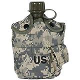 ACU迷彩柄 カバー付き ミリタリーキャンティーン 水筒 WW2 第二次世界大戦タイプ