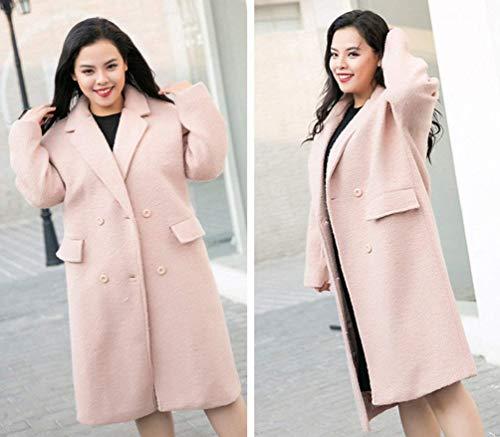 Mujer Abrigo Retro Moda Otoño Gabardina S Colores Casual Elegantes Sólidos Beapink Lana S4r41xpqw5