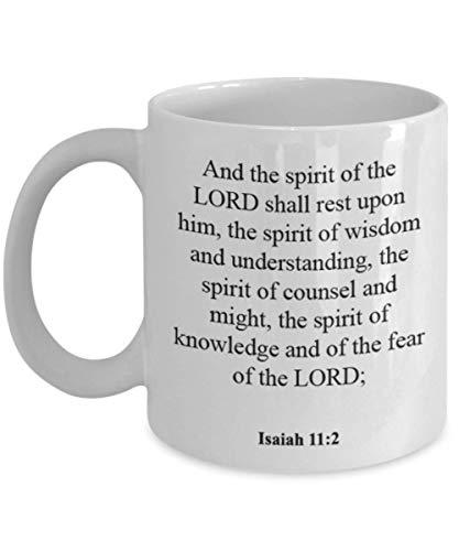 Isaiah 11 2 Coffee Mug/Cup - Inspirational Bible Verse/Psalm Gift: