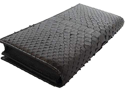WALLETS for Men PYTHON Leather Long Wallets have Card Cases and Money Organizers Zipper