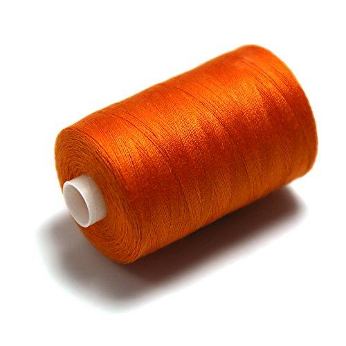 1x Nähgarn orange aus Polyester universell für die Nähmaschine 1000Y [914,4 m] 40/2 [120]