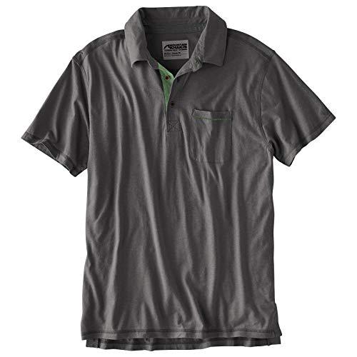 - Mountain Khakis Mens Hutch Polo Shirt: Organic Cotton Casual Hemp Polo, Slate, Large
