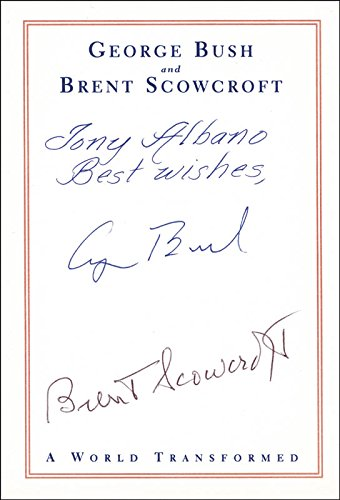 President George H.W. Bush - Inscribed Book Plate Signed co-signed By: Brent Scowcroft