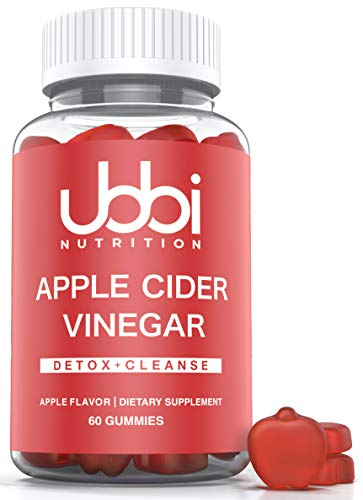 Ubbi Nutrition Apple Cider Vinegar Gummies with The Mother (60 Day Supply) Detox Support, Vegetarian, Vitamin B6 & B12…
