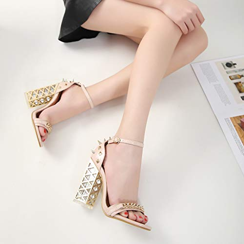 Women's Chunky Heel Sandals,Ladies Summer Ankle Straps High-Heels Open Toe Sandal by Sunskyi (Image #3)