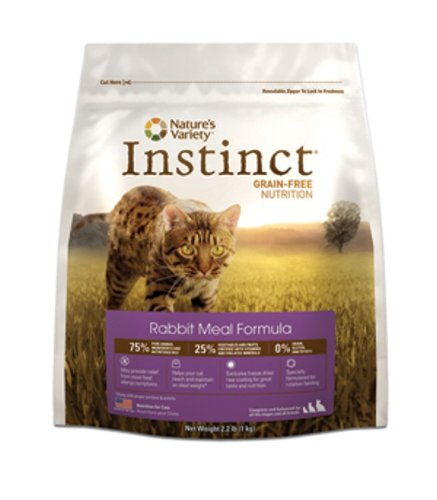 Instinct Grain-Free Rabbit Meal Dry Cat Food by Nature's Variety, 5.5-Pound Package, My Pet Supplies