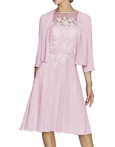 XingMeng Women's Short Appliqued Mother of The Bride Dresses with Jacket