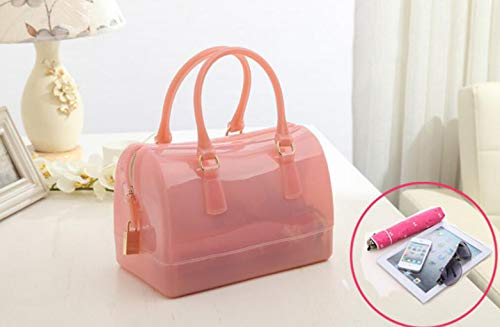One Bolsa Color Paquete de Marea Primavera Mujer Cristal Tamaño Orange de para y Jalea Verano Transparente Bolsa de Size de CCgqUnxr