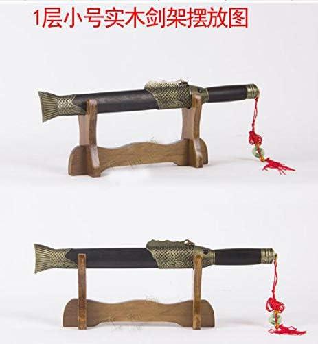 Mini SHULI Base de ensamblaje del Soporte para Espada Soporte para Soporte de Soporte de exhibici/ón de Soporte de Soporte Katana Wakizashi Espada Samurai -A