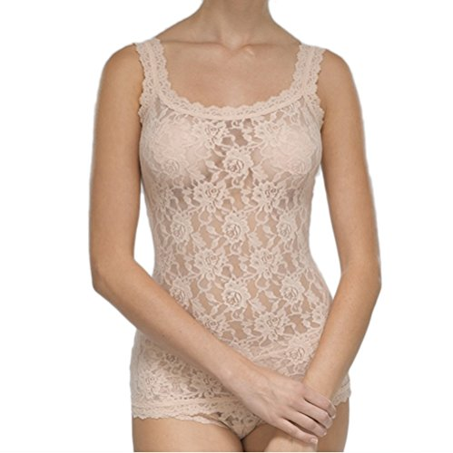 Classic Lace Camisole (Hanky Panky Women's Signature Lace Classic Camisole (Chai,L))