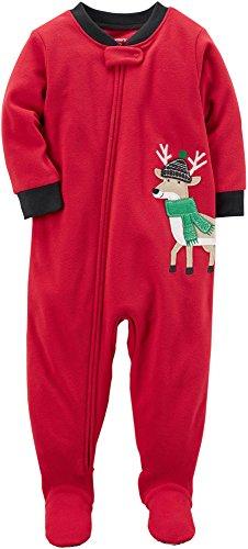 Reindeer Fleece - Carter's Boys 1-Piece Reindeer Fleece PJs (24 Months)