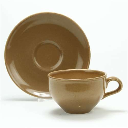Casual, Brown by Iroquois, China Cup & Saucer