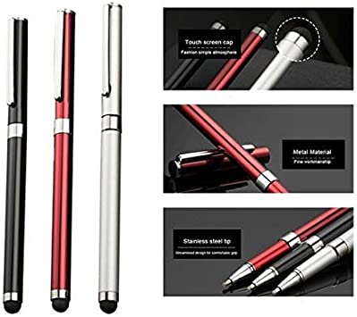 Tek Styz PRO Custom Stylus 3 Pack - Silver Red Black Writing Pen with Ink for OnePlus 5T!