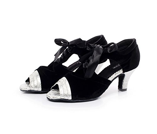 Sandalias Sparking Silver De 5cm UK6 Salsa Mujer Baile EU39 Shoes Jazz Chacha Zapatos De Tango Altos Tacones JSHOE Cristales Modern heeled7 Latin Our40 Samba Satin 8pa8tx