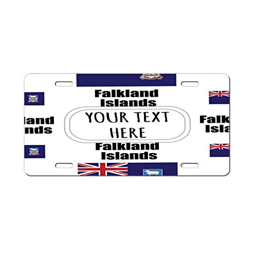 Style In Print Aluminum Car License Plate Custom Falkland Islands Country Flag ()
