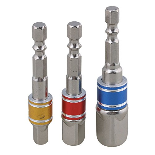 CNBTR CR-V Chrome Vanadium Steel Socket Bit Adapter Drill Nut Driver Power Extension Bar Set Shank Impact Driver Tool Pack of 3 - Fbm Bar