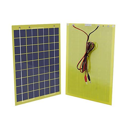 ECO-WORTHY 12 V 5 W 10 W 20 W tragbares Epoxid-Solarmodul mit 10 A PWM-Steuerung für Wohnmobil, Boot, Camping