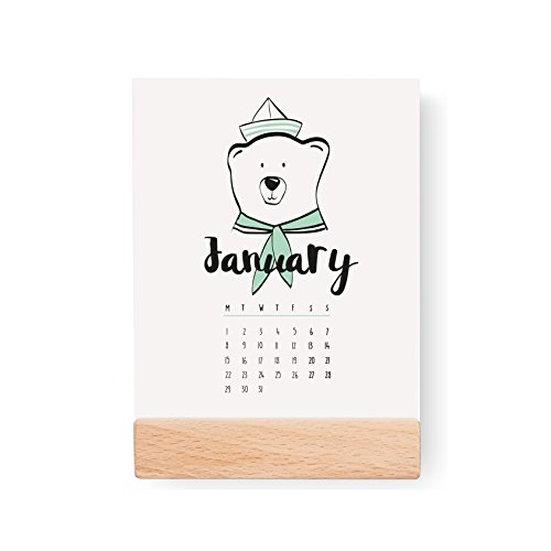 2018 Desktop Kids Calendar, Nursery Calendar, 2018 Calendar, Colorful Calendar, Card Stock Paper, Modern Calendar, Christmas Gift Idea by Lovely Decor
