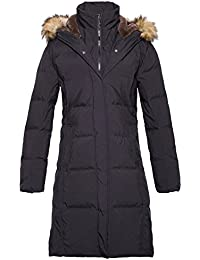 Women's Long Hooded Thickened Down Coat with Fur Trim