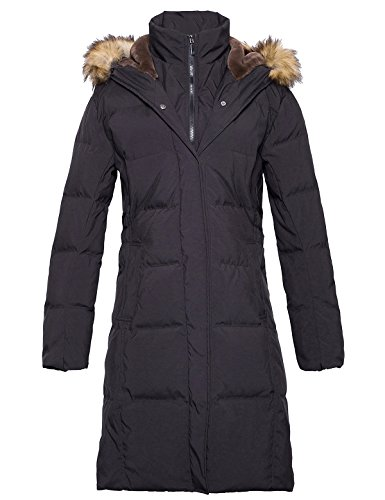 ADOMI Women's Long Hooded Thickened Down Coat with Fur Trim Black XXL -