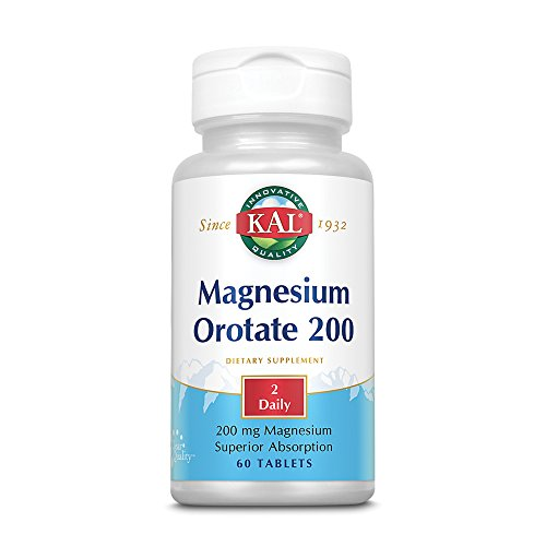 Kal 200 Mg Magnesium Orotate Tablets, 60 -