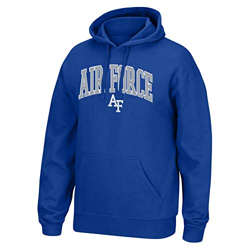 Top of the World NCAA Men's Air Force Falcons Applique Arch Over Hoodie Royal Medium