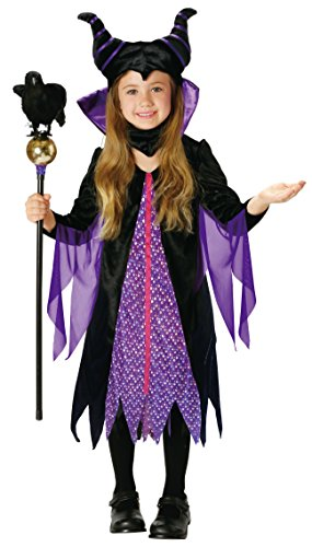 Maleficent Girls Costumes (Disney Sleeping Beauty Marefisento Kids costume girl 100cm-120cm 95321S)