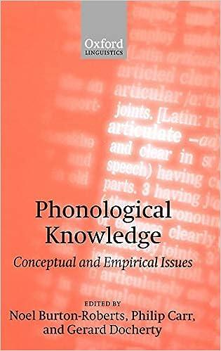 Review: Burton-Roberts et al., Phonological Knowledge