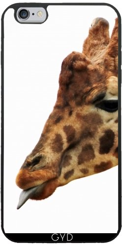 Coque Silicone pour Iphone 6/6S Plus - Girafe Faune Afrique Enfants by WonderfulDreamPicture