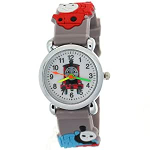 TimerMall Grey Rubber Strap Round Face Kids Watches with THOMAS & FRIENDS Theme