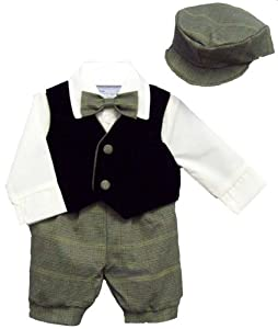 5pc Easter Suit with Vest and Hat for Baby and Toddler Boys