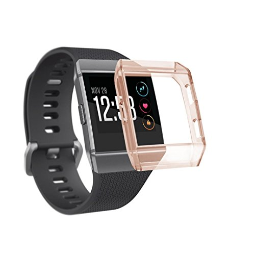Price comparison product image Newest Milanese Stainless Steel Replacement Watch Band Strap Bracelet For Fitbit Ionic, Freshzone (Rose Gold)