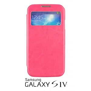 OnlineBestDigital - Flip S View Case Cover for Samsung Galaxy S4 IV I9500 / I9505 - Hot Pink